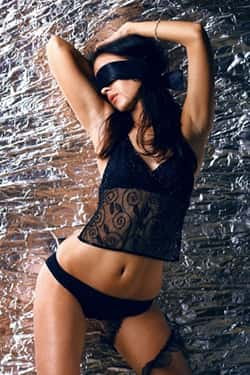 Hot girl with blindfold