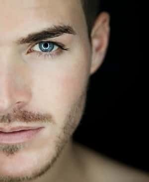 Close-up of an attractive man