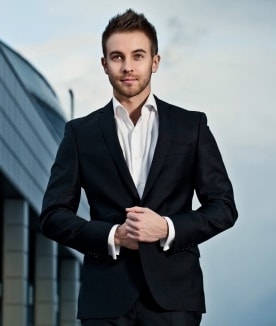 An attractive man in business suit