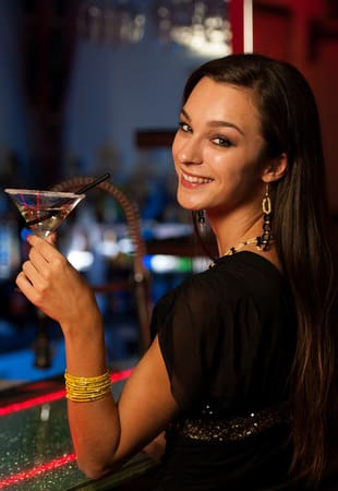 Attractive woman in club